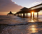 Sea bridge. Heringsdorf. Usedom island. Mecklenburg-Western Pomerania. Germany