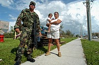 Hurricane Charley. Punta Gorda. National Guard.