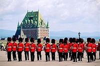 Guards at the citadel in Quebec City. Quebec, Canada