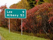 Lee sign. Massachusetts. USA.