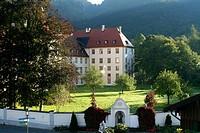 Ettal monastery. Bavaria, Germany