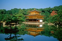 Kinkaku-ji or golden temple, originally built in 1397, Kyoto, Japan