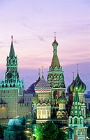 St. Basil´s cathedral, Red Square. Moscow. Russia