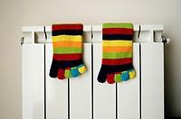 Socks on radiator