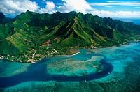 Moorea Island, aerial view. French Polynesia.
