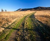 Country road going over Rowena Plateau, Columbia River Gorge National Scenic Area in October. Wasco County, Oregon, USA