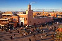 Djemaa el Fna Square. Marrakech. Morocco