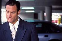 Executive businessman close up