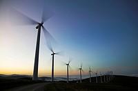 Wind turbines. Lugo province, Galicia, Spain