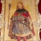 San Sebastian (with the face of Ausiàs March). Jacomart, XVth century. Collegiate church. Xàtiva. Valencia province. Comunidad Valenciana. Spain.