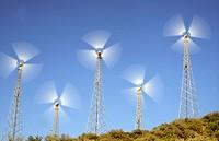 Wind Generators. Near Tarifa Spain