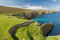 Northern cliffs of Fair isle, Shetland, UK
