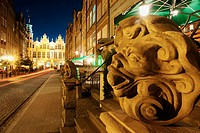 Piwna Street (Beer Street). In the foreground the Arsenal. Gdansk. Poland