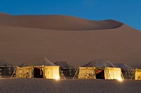 Tourist camp, Erg Awbari, Sahara desert, Fezzan, Libya.