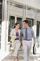 Male & female business associates