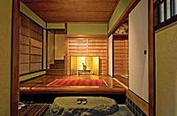 Japan, traditional home interior, entrance