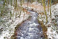 Bridal Veil Creek in Winter - Columbia River Gorge, Oregon