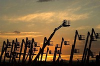 Cranes, Madrid province, Spain