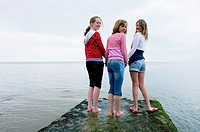 Europe, UK, sussex, brighton girls seaside