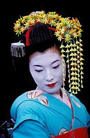 Geisha in full attire. Kyoto. Japan