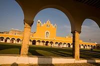 Franciscan monastery of San Antonio de Padua, Izamal. Yucatan, Mexico