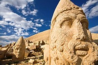 Colossal Head of Hercules in the West terrace, Nemrut Dagi National Park, Adiyaman, Anatolia, Turkey