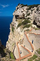 Stairs to the Neptune´s Grotto, Capo Caccia, Sardinia, Italy