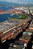 railway movement and tracks in Vancouver Harbor
