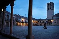 St John the Baptist church in the Main Square, Pedraza. Segovia province, Castilla-Leon, Spain