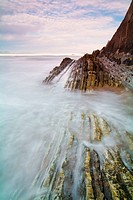 Barinatxe beach between the towns of Getxo and Sopelana, Biscay, Basque Country, Spain