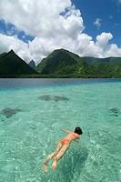 Tahiti Iti (´small Tahiti´ separated by a short isthmus from Tahiti Nui or ´big Tahiti´) South coast, Tahiti island, Polynesia