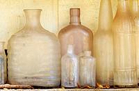 Botellas de cristal viejas