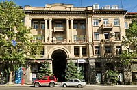 historic building at downtown Yerevan, Jerewan, Armenia, Asia