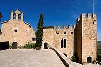 Castillo de Montsonís, siglo XII  Iglesia de Santa Maria de Montsonis  España, Catalunya, provincia de Lleida, Noguera, La Foradada