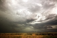 Dark clouds over prarie grass  Shot during Project Vortex 2  Project Vortex 2 is a two year National Science Foundation funded science mission to stud...