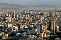panoramic view over the city of Tehran, Iran, Persia, Asia