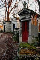 Mausoleum, Montmartre cemetery, Paris, France.