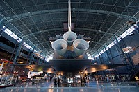 The space shuttle Enterprise at the Smithsonian´s National Air and Space Museum´s Steven F  Udvar-Hazy Center