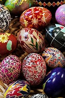 Ukrainian Style Painted Easter Egg