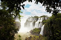 Argentina, Misiones, Iguazu National Park  The impressive Iguazu waterfalls - A world heritage site