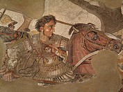 Detail of a mosaic of Alexander the Great National Archaeological Museum Naples Italy