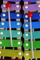 xylophones, toys.