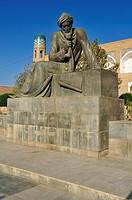 monument, statue of the famous mathematician Al Khwarizmi, Al Choresmi, Khiva, Chiva, Unesco World Heritage Site, Uzbekistan, Central Asia