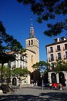 Iglesia de San Miguel and Plaza Mayor, Segovia, Spain