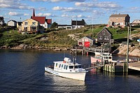 Port of historic fishing port Peggys Cove, Nova Scotia, Canada
