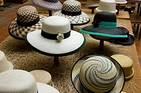 Ecuador. Cuenca city. Hat shop craftsmen.