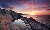 Sunset. Punta de la Lastra, Castro Urdiales, Cantabria, Spain