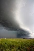 A soon to be tornadic supercell near Scottsbluff, Nebraska, June 7, 2010.