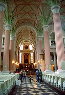 St  Nicholas Church or Nikolaikirche Leipzig, Germany  A protestant church with interior design in the neoclassical style  J S  Bach performed here