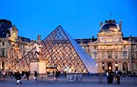 France, Paris, Louvre, palace, museum, Pyramide,